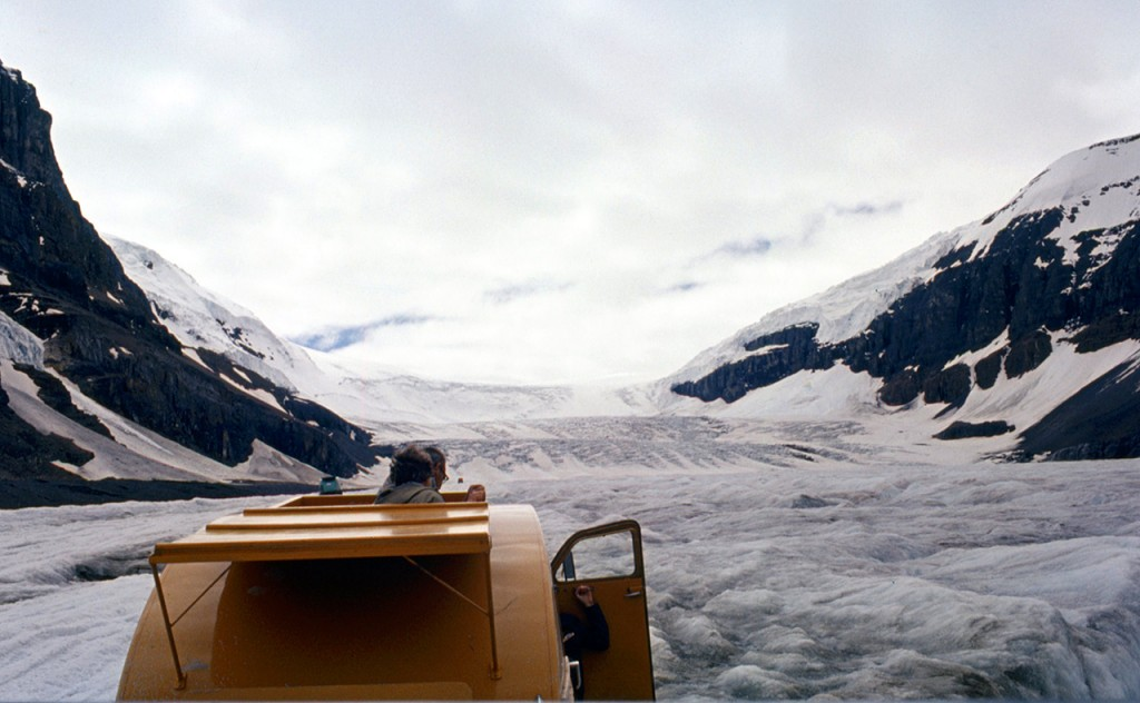 Athabasca glacier by snowmobile - dads pick